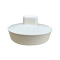 "1-3/4"" White Rubber, Water Hollow Stopper For Drain Openings"