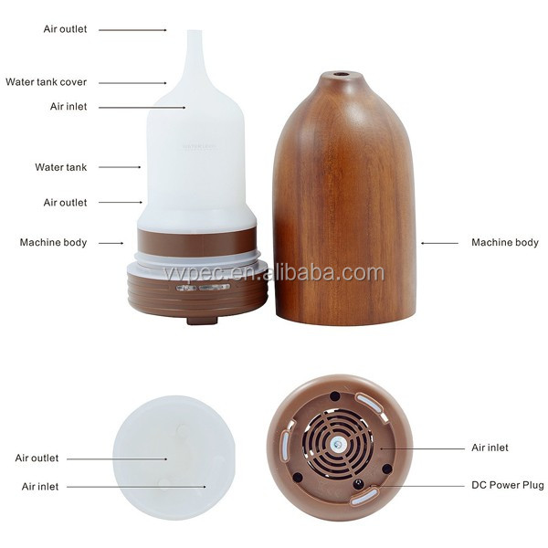 China factory Hand-made wood essential oil diffuser/ aroma diffuser with super silence for home and car use