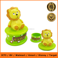 Lion shape 1 year old /1 month / new born baby first tooth box resin birthday baby gift set