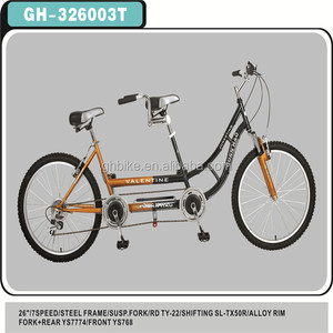 18 speed aluminum tandem bike suspension fork two seats bicycle double seat bicycle two people bike