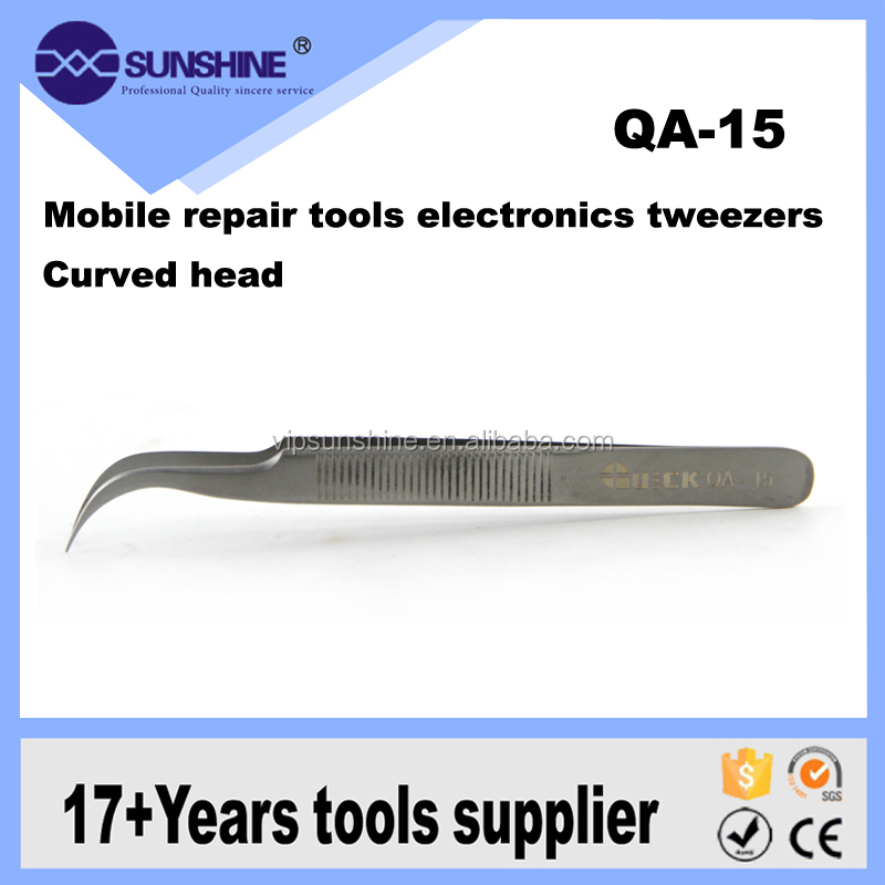 Quick QA-15 Curved Or Straight Tweezers Eyelash Extension Tweezers / Lash Tweezers Under Your Own Customized Brand Logo