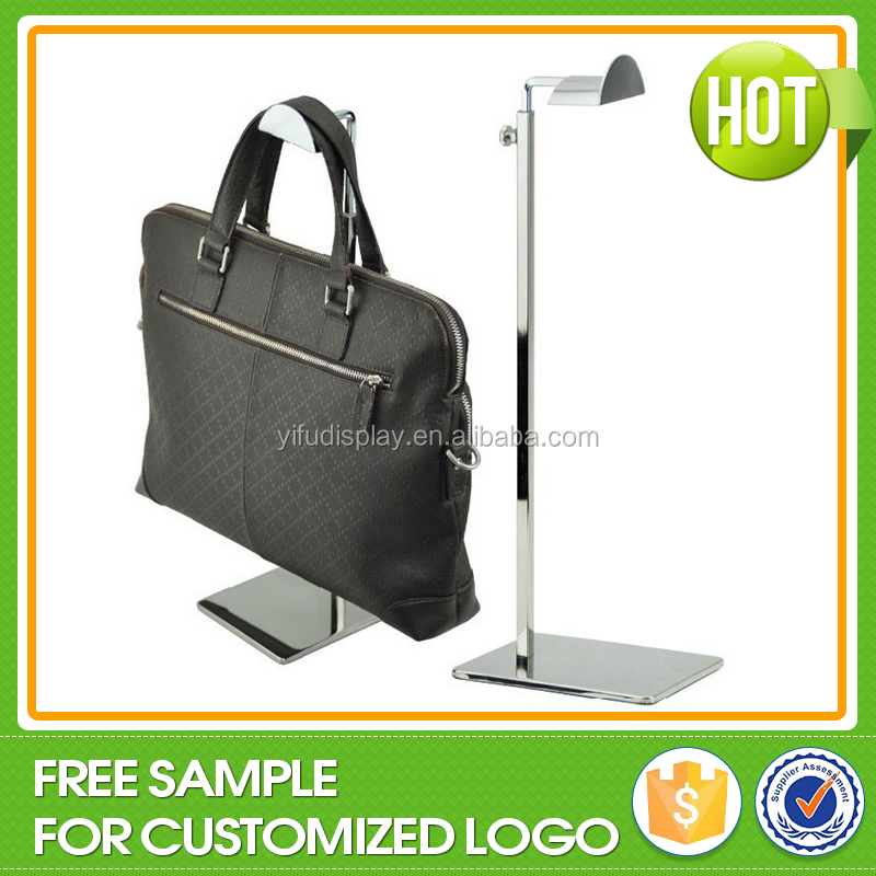 Custom Metal Silver Bag Handbag Hanging Display Stand Rack, Display Rack for Handbags