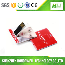 Promotional Square Card USB Flash Drive , Branded Card USB