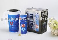 Plastic water Jug Juice pitchers +4pcs cups
