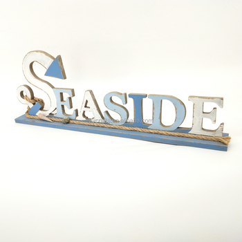 high quality seaside wood letter wood block