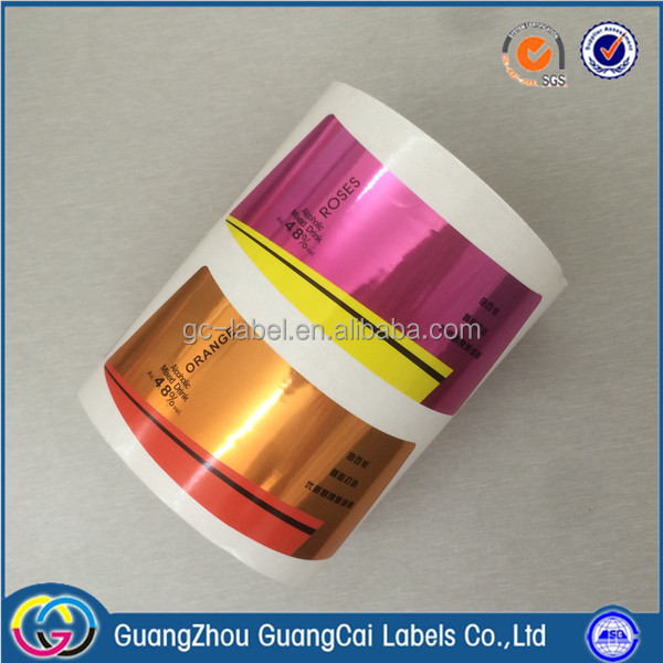 Guangzhou manufacturer 10ml vial labels cosmetic label printing
