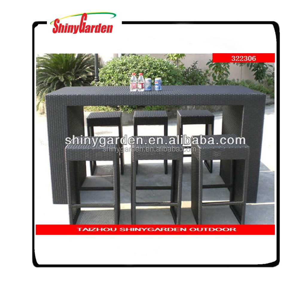 dining/bar rattan furniture,plastic rattan/wicker woven furniture outdoor,synthetic rattan garden furniture
