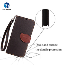 New Coming Lychee Grid with Leaf Buckle Leather Cell Phone Wallet Case Flip Cover For Samsung Galaxy Note 8