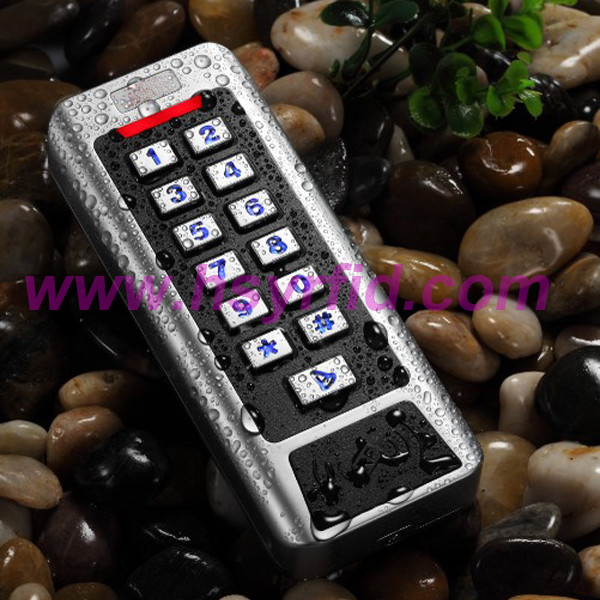 HSY-S215W waterproof standalone keypad single door key card access systems support 2000 card users