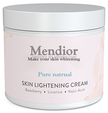 Mendior OEM pure kojic skin lightening cream best skin lightening cream to black in america