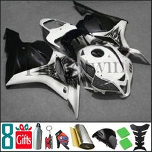 2009 2010 2011 2012 CBR600F5 graffiti scrawl black white Fairings Injection Fairing For honda CBR 600 RR 09 12