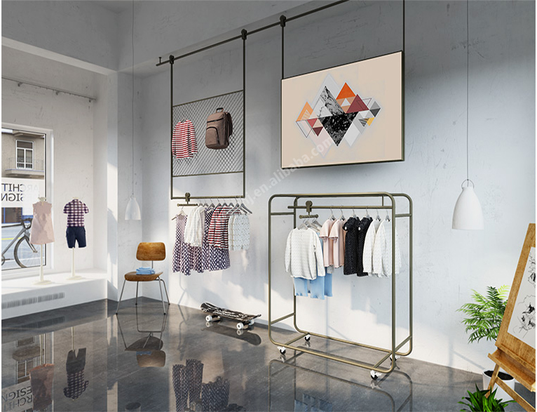 Side display rack childrenswear dispaly fixtures. luxury style HC07B01