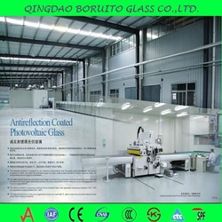 Anti-Reflective Coating Solar Glass / AR Coated Solar Glass For Solar Panel With High Transmission