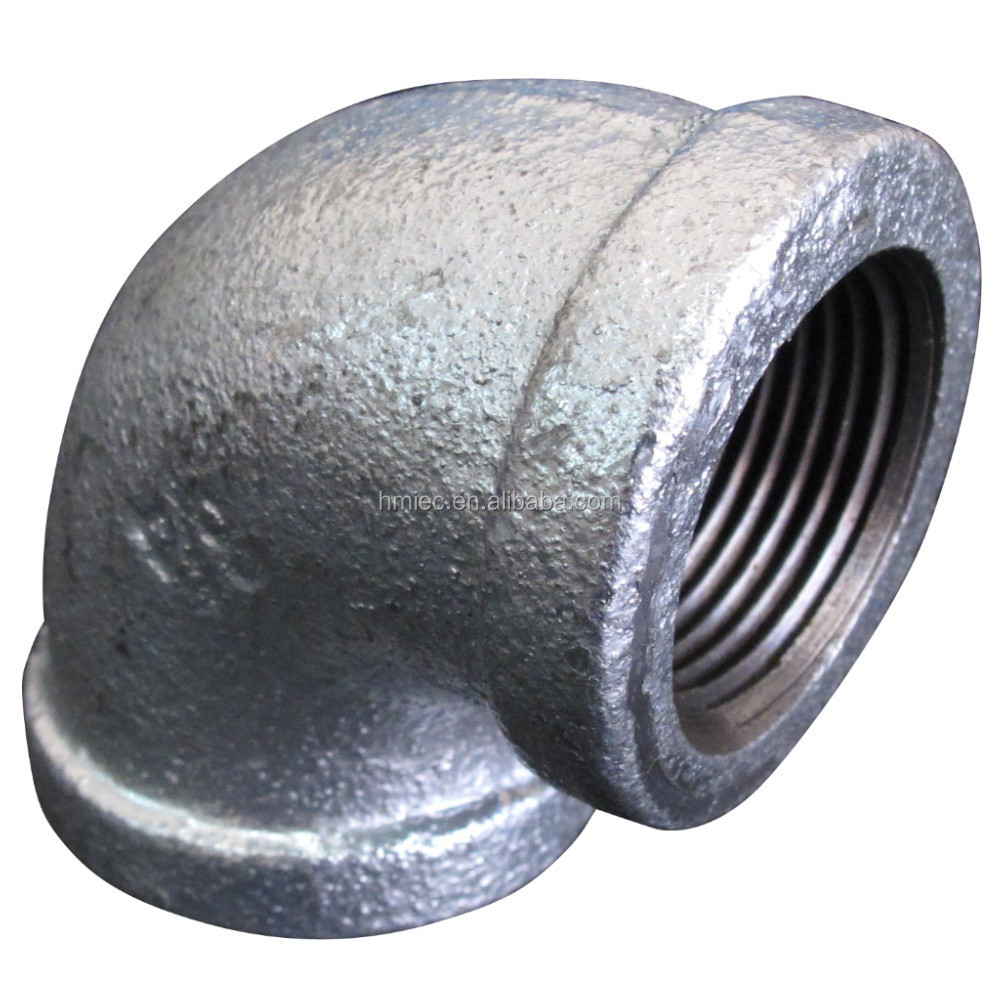 Hot dipped galvanised malleable iron pipe fittings