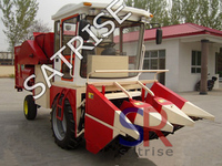 Farming machinery maize combine corn harvester with tractor
