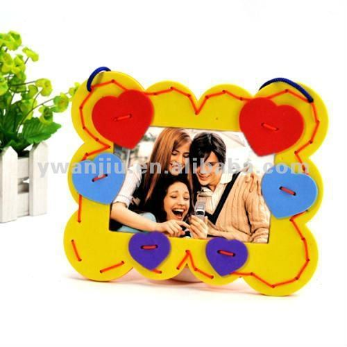 Supply creative fashion DIY handwork sponge paper photo frame