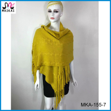 High fashion ladies' and women's fashion acrylic knit scarf and shawl 2016