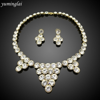 Charming bridal jewelry necklace and earring sets