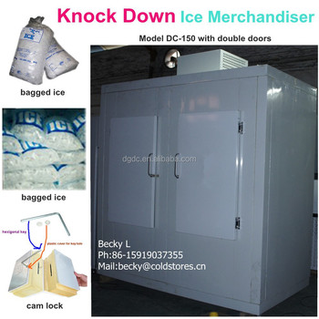 Knock down ice merchandiser DC-150 auto defrost for outdoors