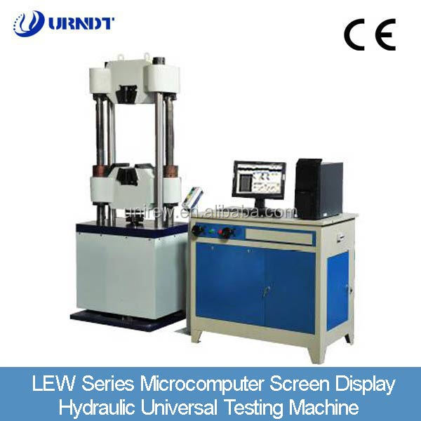 URNDT LEW100D microcomputer screen display hydraulic universal testing Machine Parts Of Universal Testing Machine