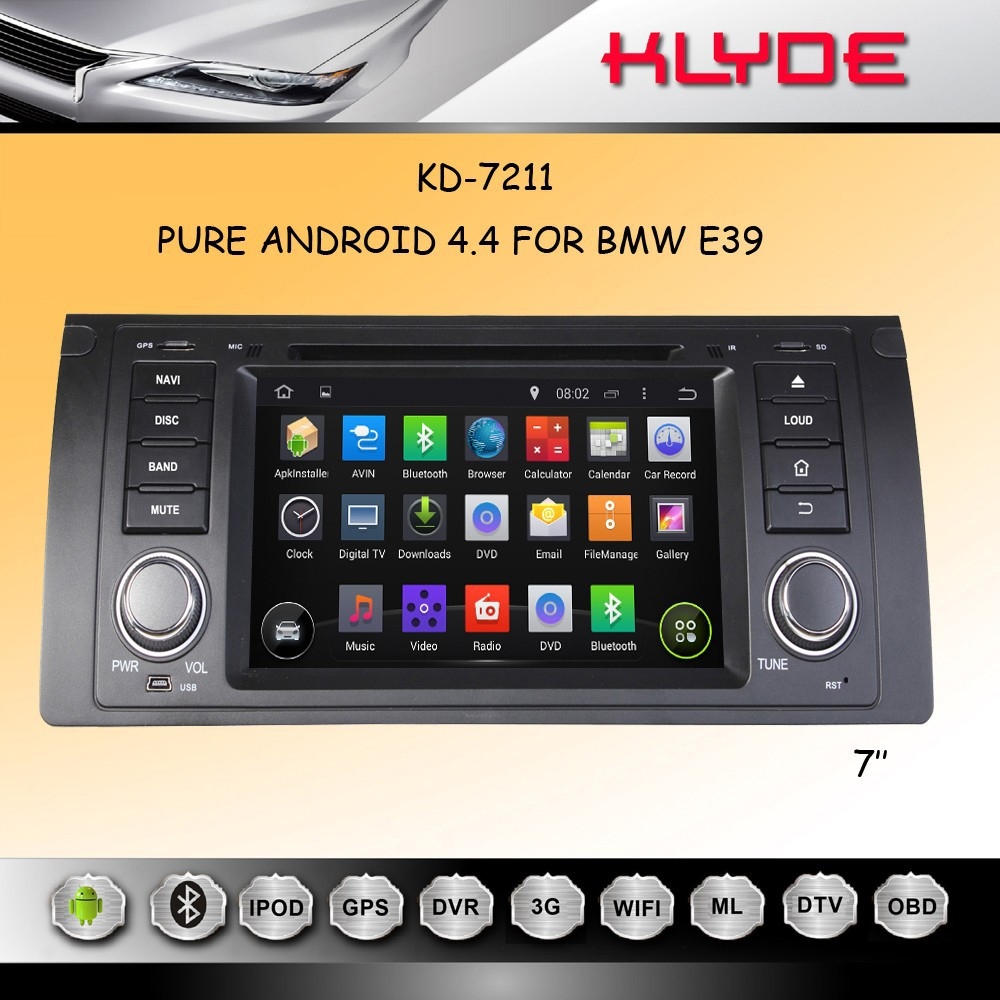 "Car Multimedia Player 7"" Android 4.4.2 Tablet 1 Din Car DVD Player for e39"