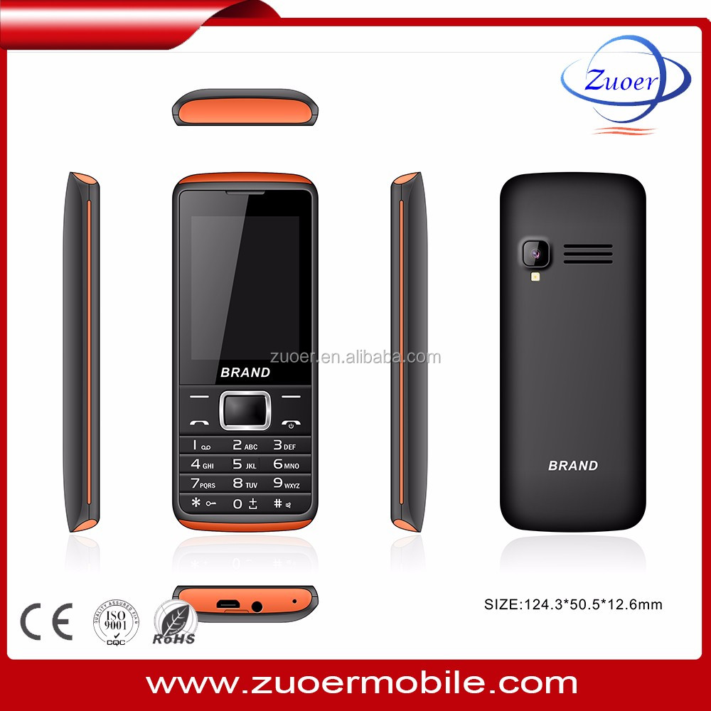 0.08mp support 16G TF card expansion cheap price 2.4 inch feature phone