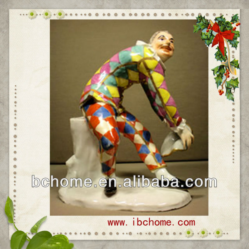 resin figures,Harlequin figurines,clown statue
