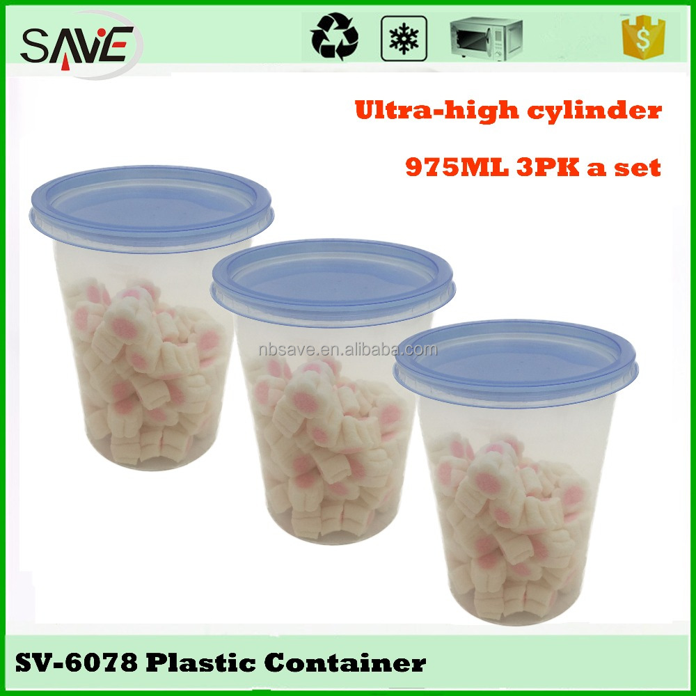 Customized 1000ML stackable freezer safe promotion gift clear plastic food disposable container