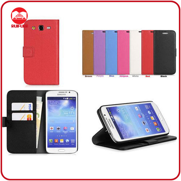 RF Manufacturer Wholesale With Card Slots Pouch Wallet Leather Flip Case for Samsung Galaxy Grand 2 G7102 G7106