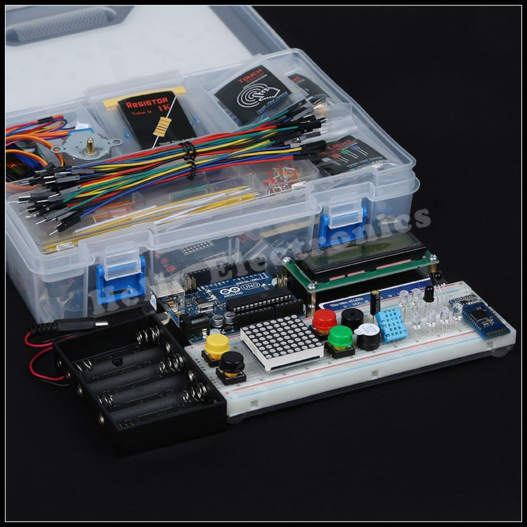 Electronics starter kits for arduino kinds in