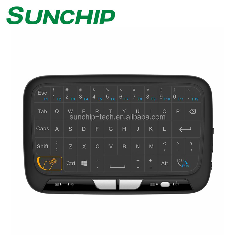 Original Mini Rechargeable Wireless 2.4G Air mouse English Russian Version Touchpad Handheld Keyboard For Android TV Laptop