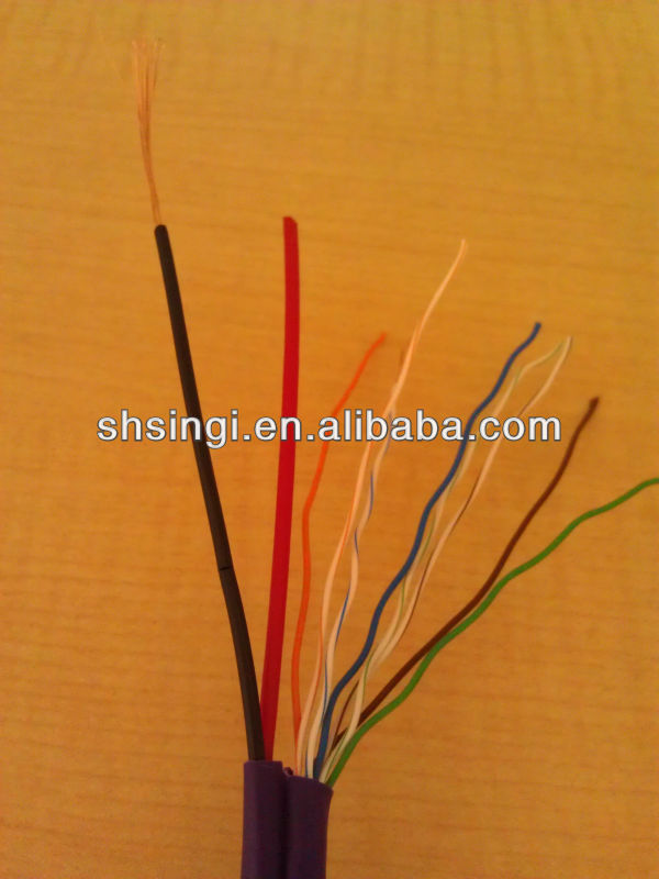 UTP CAT5E siamese cable Utp Cat5e Lan Cable With Power