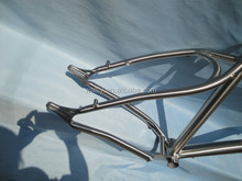 "26"" offset snow titanium bicycle frame"