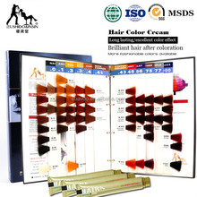 OEM Manufacturer Salon professional Hair dye color chart/color swatch book