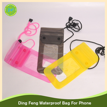 High quality promotional Mobile PVC travelling waterproof bag for phone