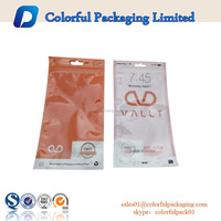 Plastic Bags For Packing Earplugs/ Battery/ Charger With Zipper/Euro Hole