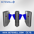 Roanpu security turnstile gate two lanes retractable optical flap barrier gate turnstile for access door