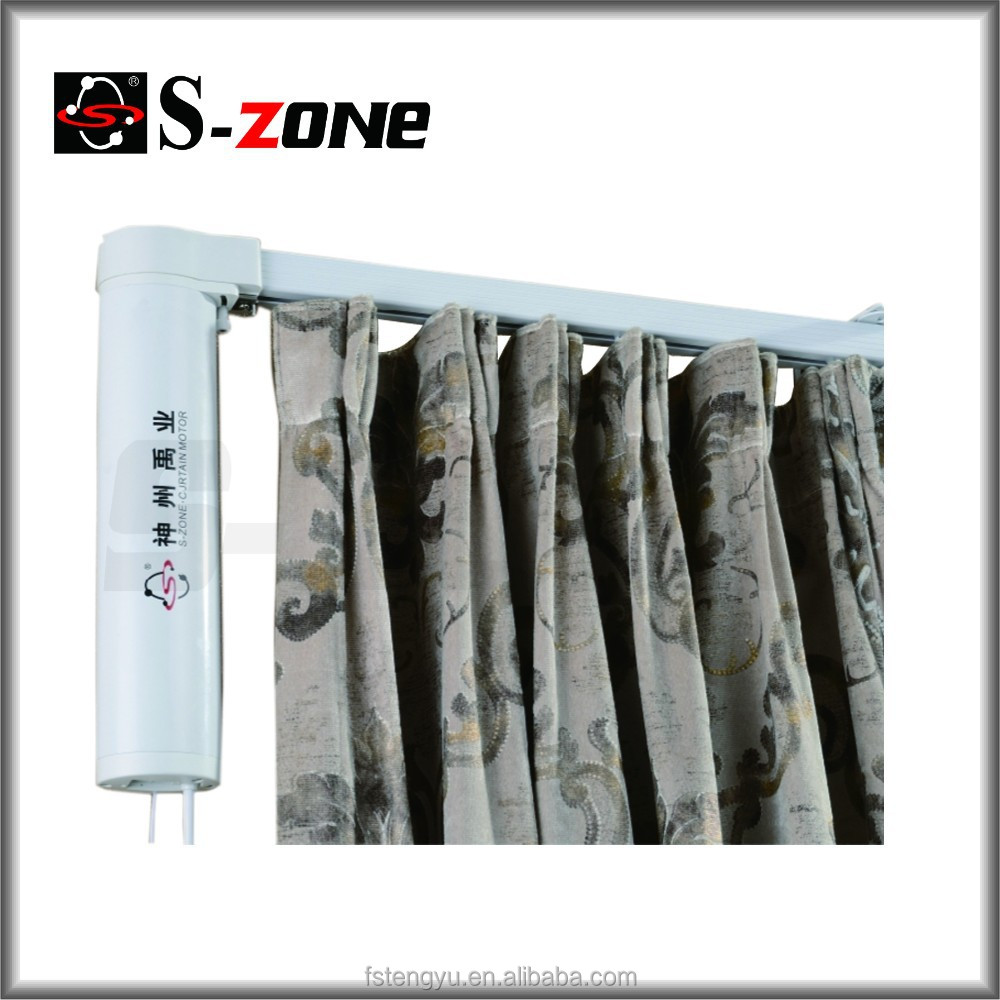 Home decoration automation electric straight curtain track motor system