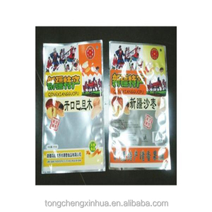 New product heat seal organic snack food packaging bag with clear window