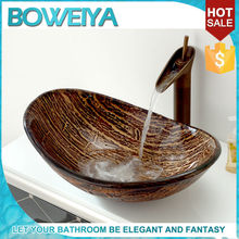 China Manufacturer Tempered Glass Toilet Hand Wash Basins