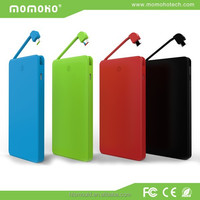 momoho 2015 huge power high speed power for iphone6/ipad with Built-in USB