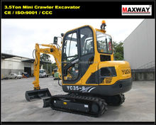 Sales Promotion ~ YUCHAI 3.5 Ton Mini Small Crawler Excavator for Sale , CE / ISO Certificate , Model: YC35-8