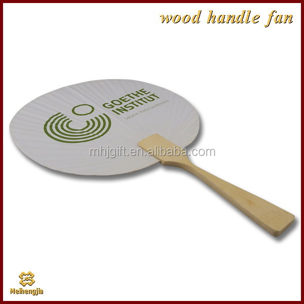 Bottom price economic wooden crafts wooden painted hand fan
