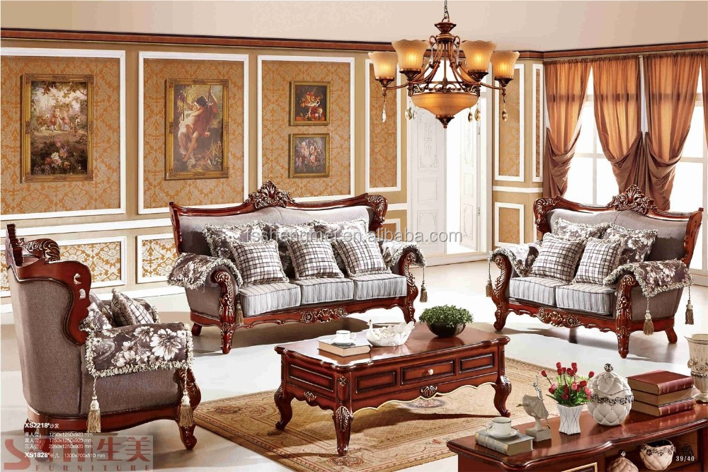 China Living Room Sofa Set Dubai Leather Furniture