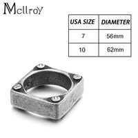 Mcllroy high quality titanium steel men fashion jewelry ring