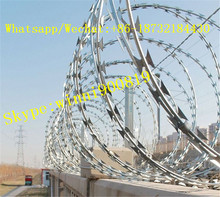 Chinese electro/hot dipped galvanized concertina razor wire/razor barbed wire from factory