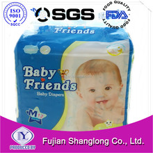 A Grade cloth like sleep disposable Baby Diapers from China Quanzhou factory