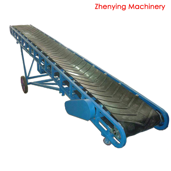 Portable gravel concrete belt conveyor