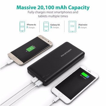 Qualcomm Quick Charge 3.0 + USB-C Port RAVPower 20100mAh Portable Charger External Battery Pack Power Bank for Phones, Tablets