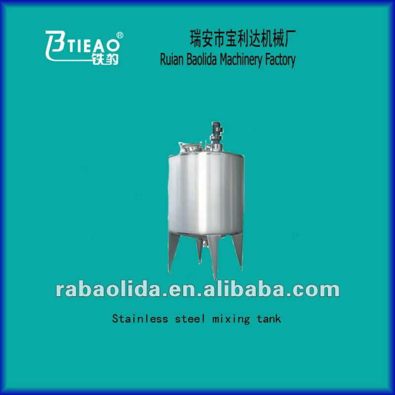 Stainless steel cosmetic mixing and preparation tank equipment